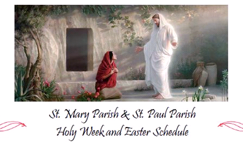 Holy Week Schedule 2021 (Closed)