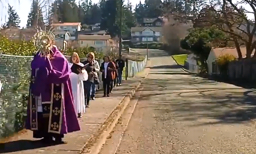 Procession video from March 21, 2020
